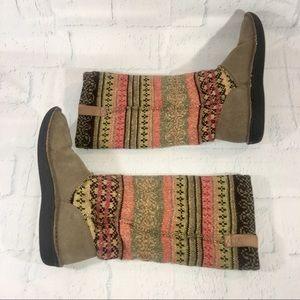 Keen Footwear AUBURN FLUR Tan Mid Calf Boots 8